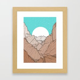 The Mountains of Old Framed Art Print