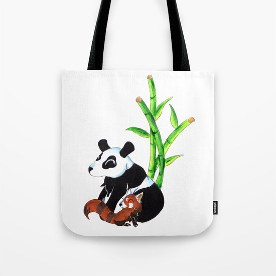 Panda Duo Tote Bag