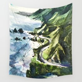 California Coast Big Sur USA Wall Tapestry