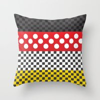 minnie mouse Throw Pillows featuring Minnie by AmadeuxArt