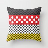 minnie Throw Pillows featuring Minnie by AmadeuxArt