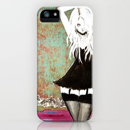 Girl Contrast iPhone Case