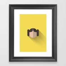 Leia Minimalist Poster Framed Art Print