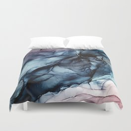 Blush and Darkness Abstract Paintings Duvet Cover