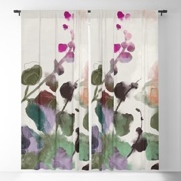 floral abstract summer autumn Blackout Curtain