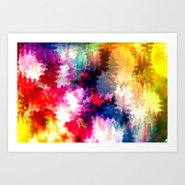 An explotion of color Art Print