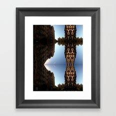 not nearly like climbing Framed Art Print