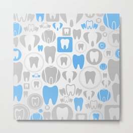 Tooth a background Metal Print