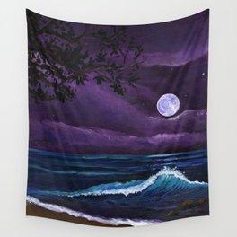 Romantic Kauai Moonlight Wall Tapestry