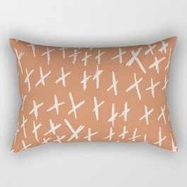 Funny XXX Abstract brush strokes vintage hand drawn illustration pattern Rectangular Pillow