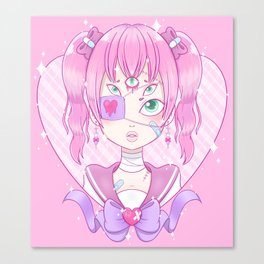 Sickly Quintclops Girl Canvas Print