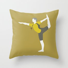 Wii Fit Trainer♂(Smash)Yellow Throw Pillow