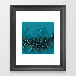 Blue Rift Galaxy (8bit) Framed Art Print