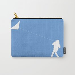 Little Girl with a Kite in Sky Blue Carry-All Pouch