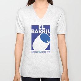 El Barril Blue Unisex V-Neck