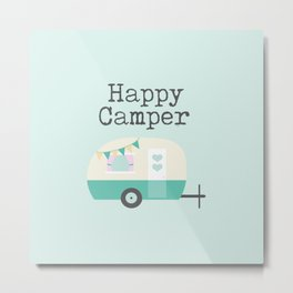 Happy Camper Minty Fresh Metal Print