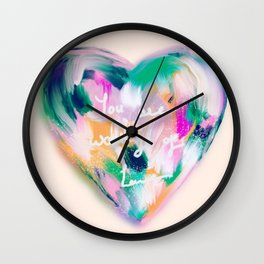 Heart Shape- You are worthy of love Wall Clock