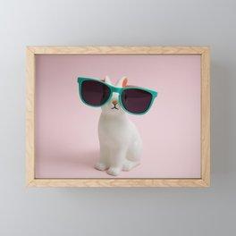 Sunglasses bunny Framed Mini Art Print