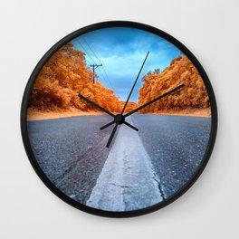 Infrared Road Wall Clock