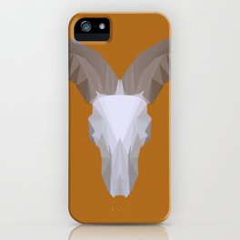 Low Poly Aoudad Skull iPhone Case
