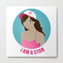 I am a star Metal Print