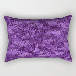 Marbled Paisley - Purple Rectangular Pillow