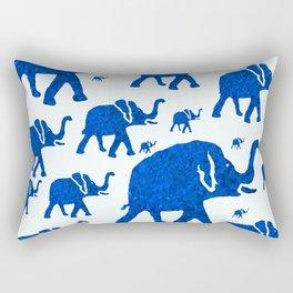 ELEPHANT BLUE MARCH Rectangular Pillow
