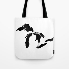 Map of the Great Lakes Tote Bag