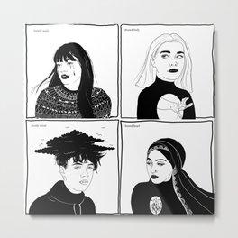 Druck - four mains Metal Print
