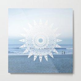 Surf mandala Metal Print
