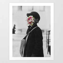 Happiness Mask Art Print