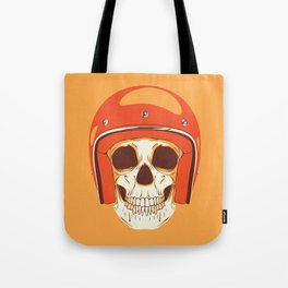 Helmet Skull Tote Bag
