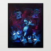 disco Canvas Prints featuring Disco by tipa graphic