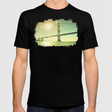 Golden... Mens Fitted Tee LARGE Black