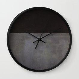 Mark Rothko Black on Grey Wall Clock