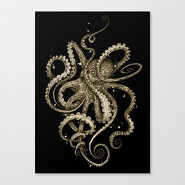Octopsychedelia Sepia Canvas Print