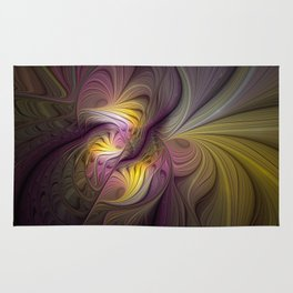 Unity, Abstract Colorful Fractal Art Rug