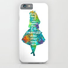 Alice In Wonderland - Quote - Colorful Watercolor White Text Slim Case iPhone 6s
