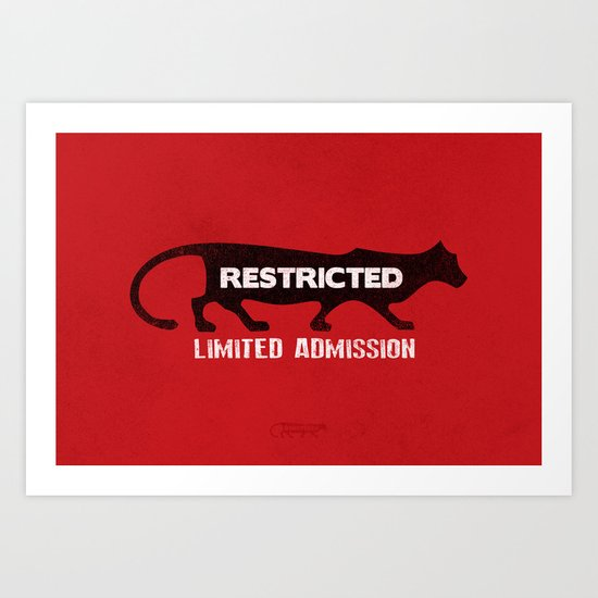 Restricted Cougar Art Print