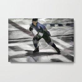 Let's Go! - Ice Hockey Player Metal Print