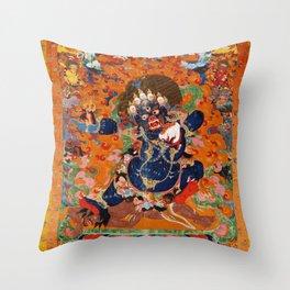 Buddhist Diety Mahakala 2 Throw Pillow