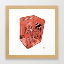 Bathroom I Framed Art Print