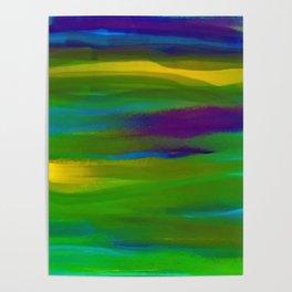 Green Mardi Gras Abstract Poster