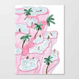 Pamukkale Canvas Print