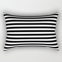 Small Black and White Stripes Pattern Rectangular Pillow