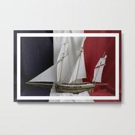 Le Coureur, french flag Metal Print