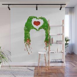 zombie hand making heart Wall Mural