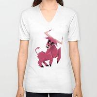 taurus V-neck T-shirts featuring Taurus! by Yetiland