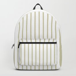 Spanish Moss Green Pinstripe on White Backpack