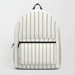 Spanish Moss Green Pinstripe on White Backpack